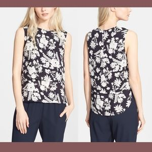 NWT $215 Theory Hodal Floral Print Top in Medium